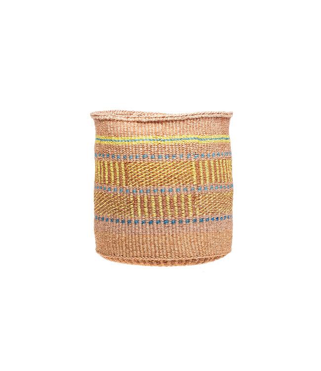 Sisal mandje Kenia - kleurrijk, practical weave #296