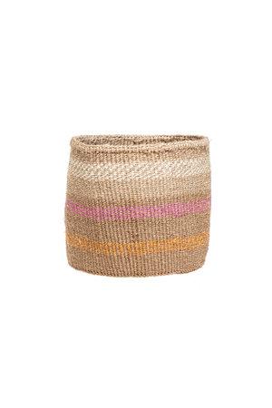 Couleur Locale Sisal mandje Kenia - kleurrijk, practical weave #297