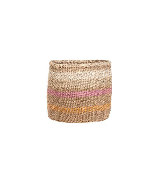 Couleur Locale Sisal basket Kenya - colorful, practical weave #297