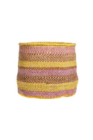 Couleur Locale Sisal mandje Kenia - kleurrijk, practical weave #299