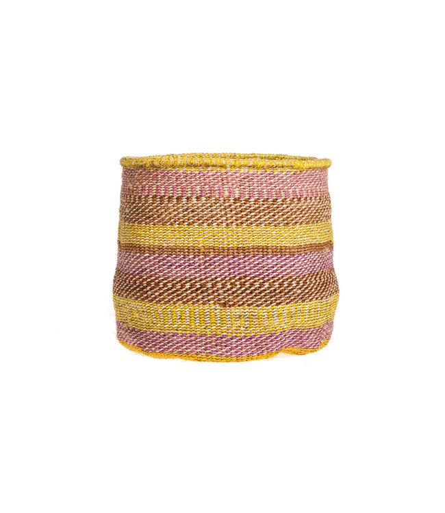 Couleur Locale Sisal basket Kenya - colorful, practical weave #299