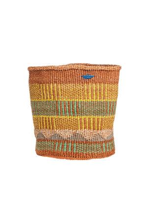 Couleur Locale Sisal mandje Kenia - kleurrijk, practical weave #300