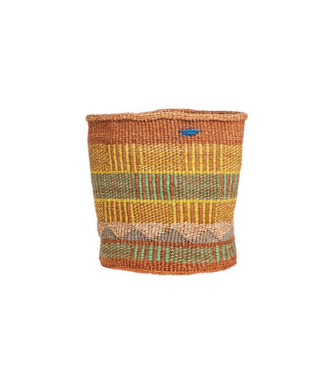 Sisal basket Kenya - colorful, practical weave #300