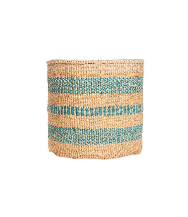 Sisal mandje Kenia - kleurrijk, practical weave #301