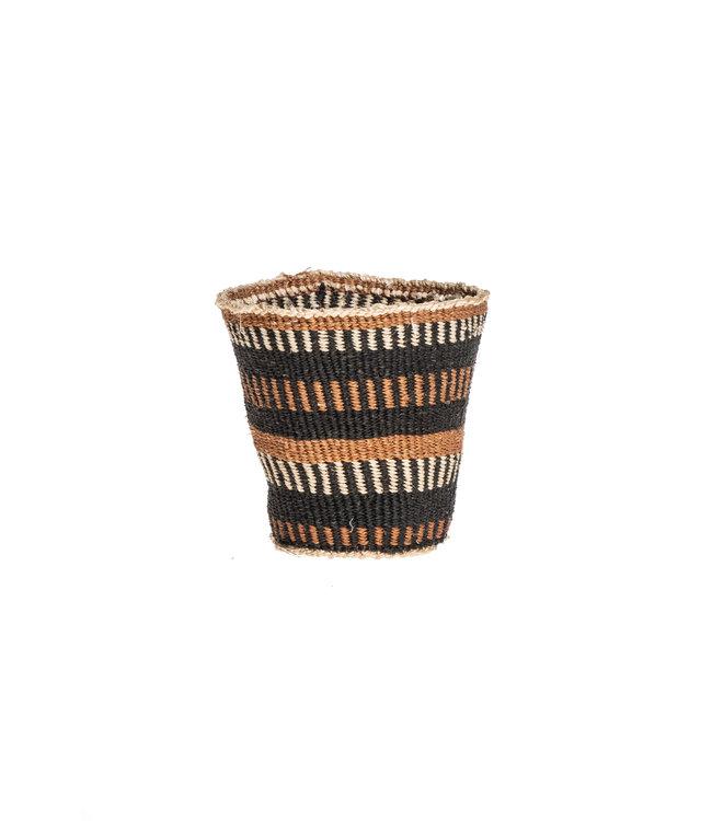 Couleur Locale Sisal basket Kenya - earth colors, fine weave #305