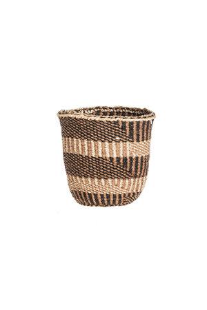 Couleur Locale Sisal basket Kenya - earth colors, fine weave #306