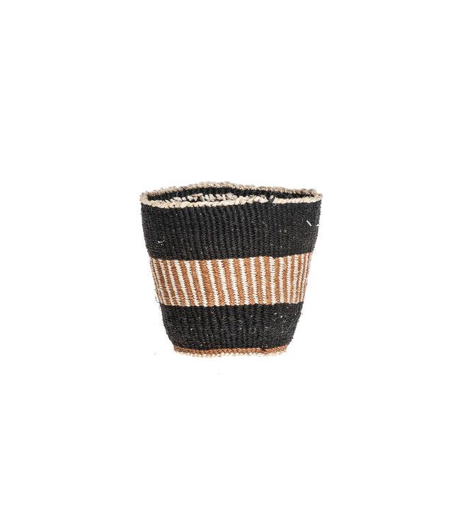 Couleur Locale Sisal basket Kenya - earth colors, fine weave #307
