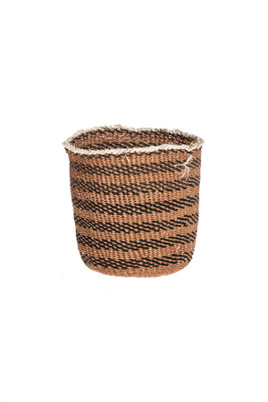Couleur Locale Sisal basket Kenya - earth colors, fine weave #308