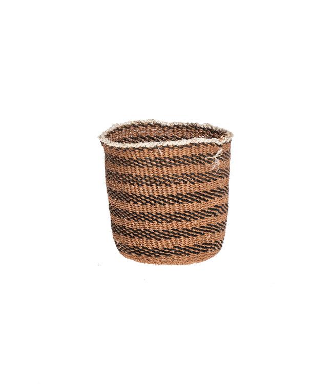 Sisal basket Kenya - earth colors, fine weave #308