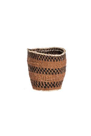 Couleur Locale Sisal mandje Kenia - aardetinten, fine weave #309