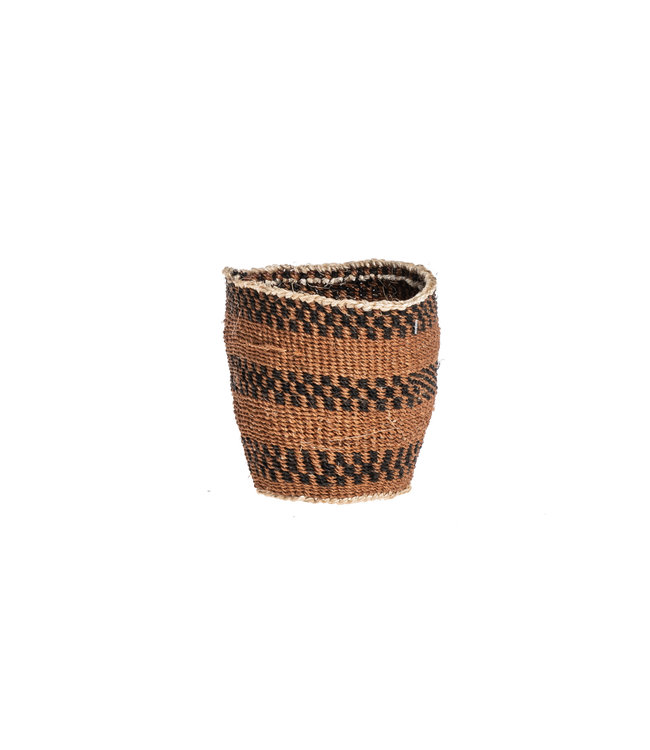 Couleur Locale Sisal basket Kenya - earth colors, fine weave #309