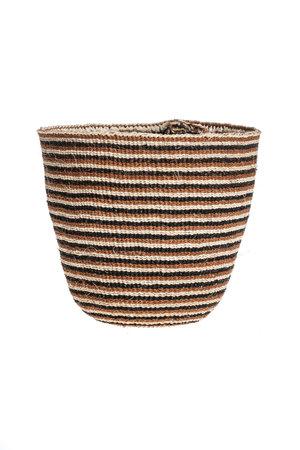Couleur Locale Sisal mandje Kenia - aardetinten, fine weave #310