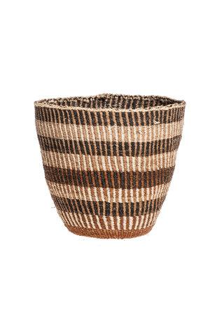 Couleur Locale Sisal basket Kenya - earth colors, fine weave #311