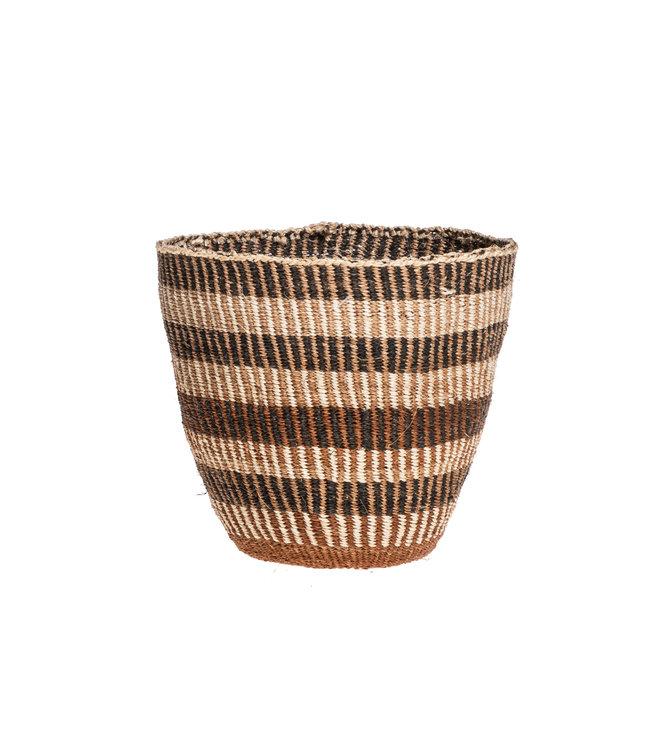 Couleur Locale Sisal mandje Kenia -aardetinten, fine weave #311
