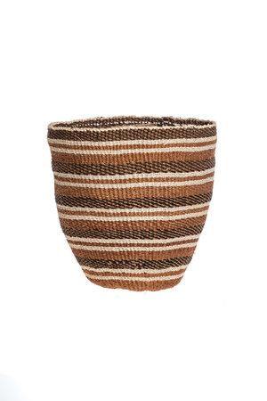 Couleur Locale Sisal mandje Kenia -aardetinten, fine weave #312