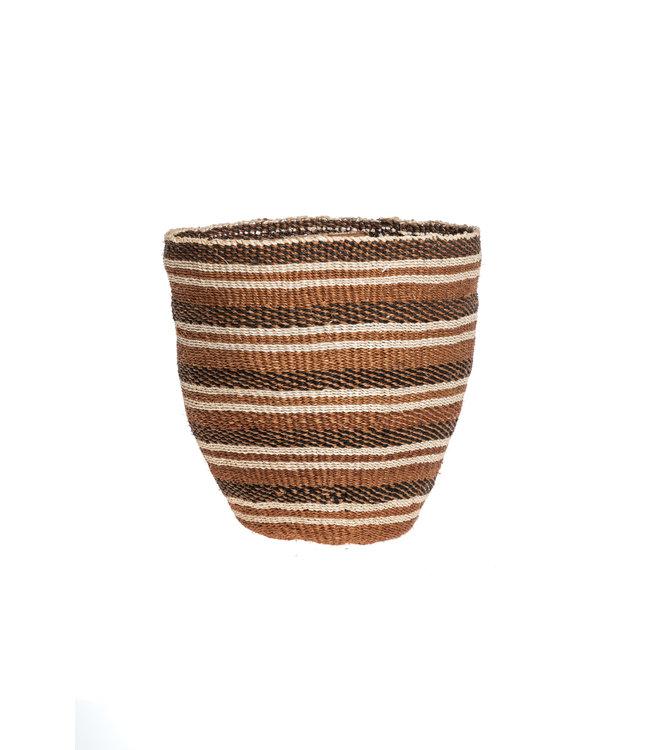 Couleur Locale Sisal basket Kenya - earth colors, fine weave #312