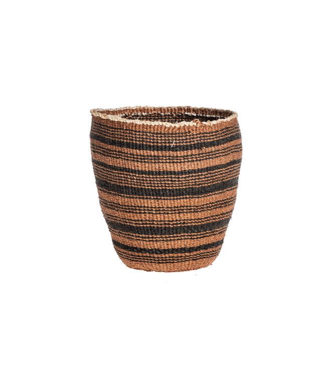 Couleur Locale Sisal basket Kenya - earth colors, fine weave #313