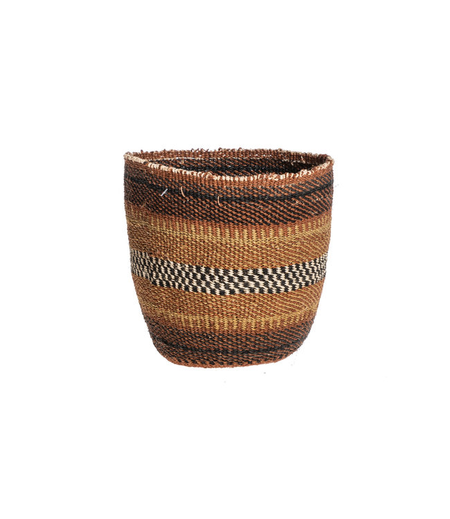 Couleur Locale Sisal basket Kenya - earth colors, fine weave #314
