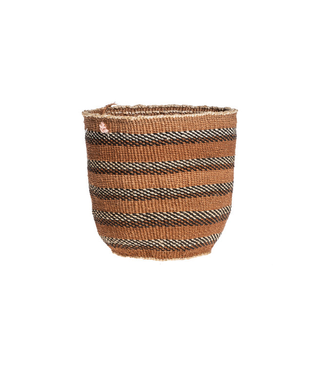 Couleur Locale Sisal basket Kenya - earth colors, fine weave #315