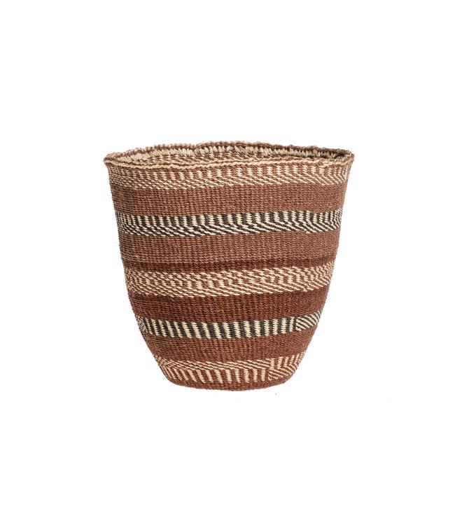 Couleur Locale Sisal basket Kenya - earth colors, fine weave #316