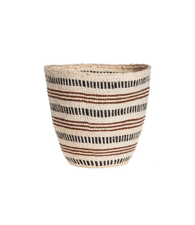 Couleur Locale Sisal basket Kenya - earth colors, fine weave #317