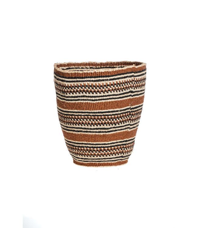 Couleur Locale Sisal basket Kenya - earth colors, fine weave #318