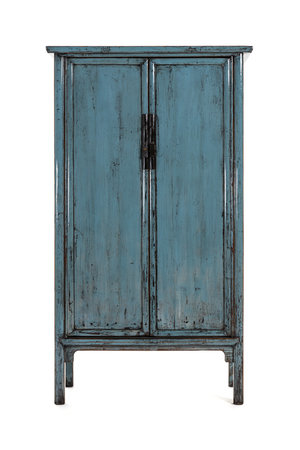 Blue Chinese cupboard with 2 doors