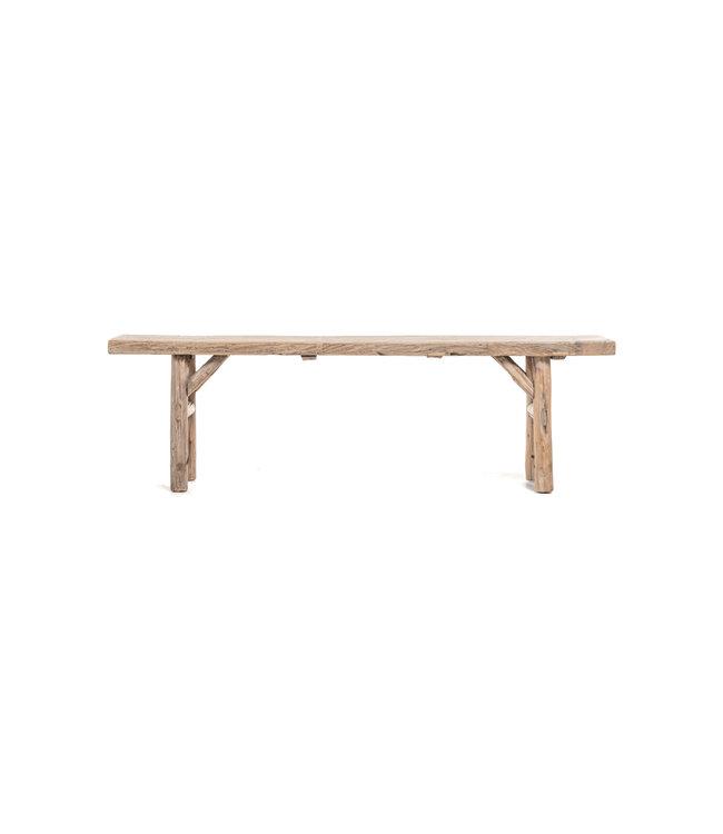 Bench weathered elm wood - 188cm