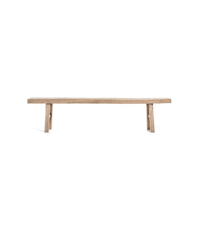 Bench weathered elm wood - 215cm