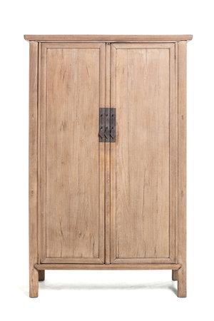 Prachtige 2-deurs kast naturel olmhout