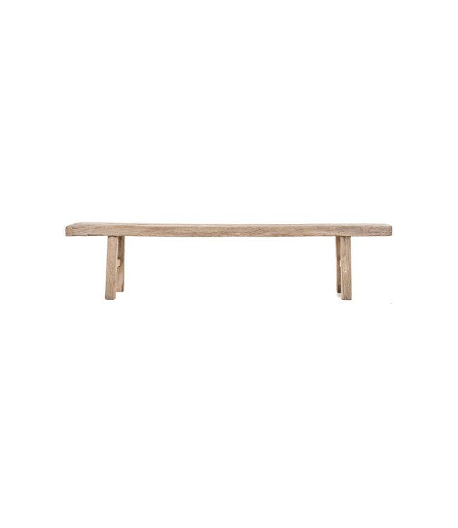 Bench weathered elm wood - 166cm