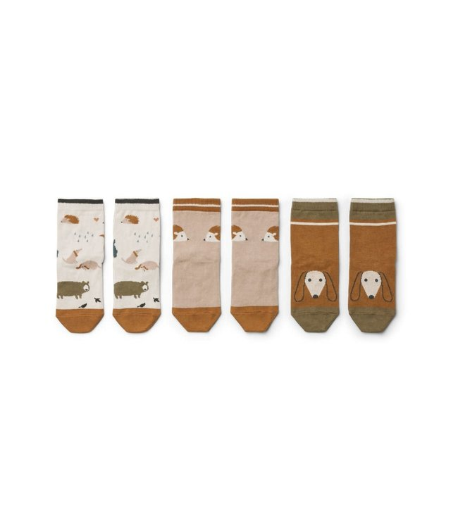Liewood 3 pack Silas cotton socks - friendship sandy mix