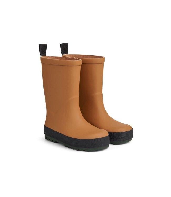 Liewood River rain boot - mustard/black mix