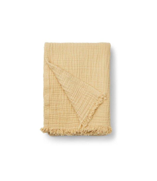 Magda muslin blanket - wheat yellow