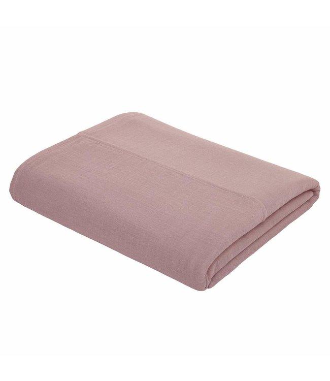 Top flat bed sheet plain - dusty pink