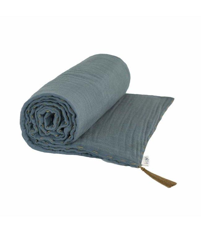 Summer blanket - ice blue
