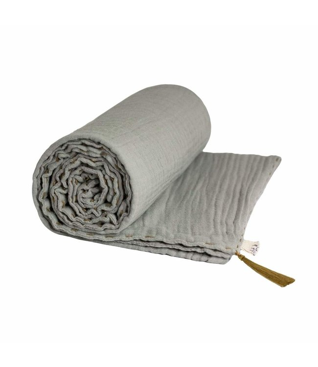Summer blanket- silver grey