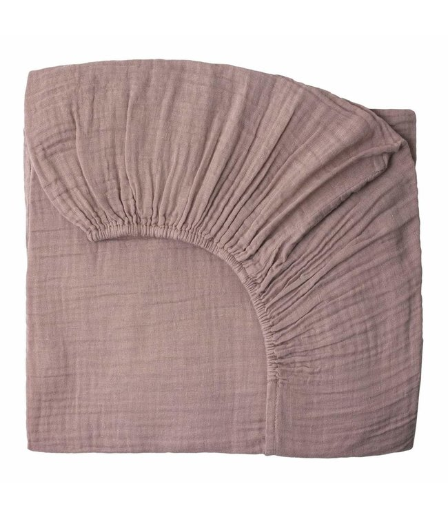 Numero 74 Fitted bed sheet - dusty pink