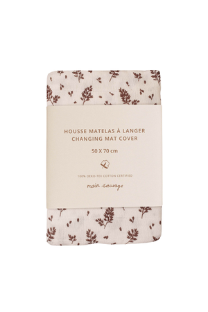 Main Sauvage Changing mat cover - meadow