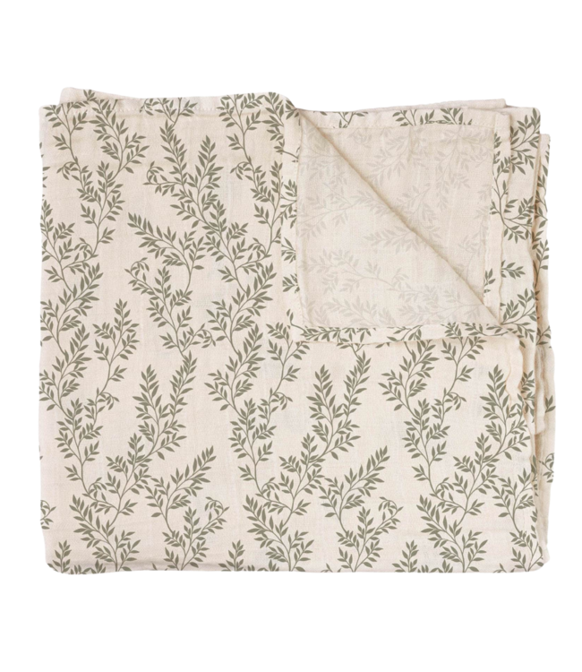 Main Sauvage Swaddle - bay leaves