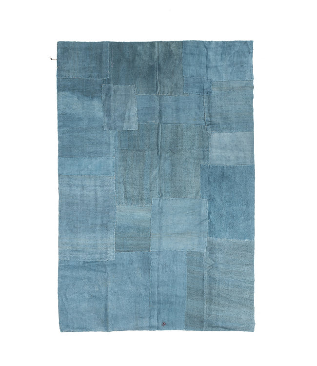 Hand knotted kilim - blue