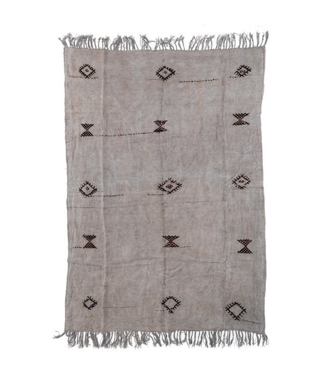 Hand knotted - kilim - grey