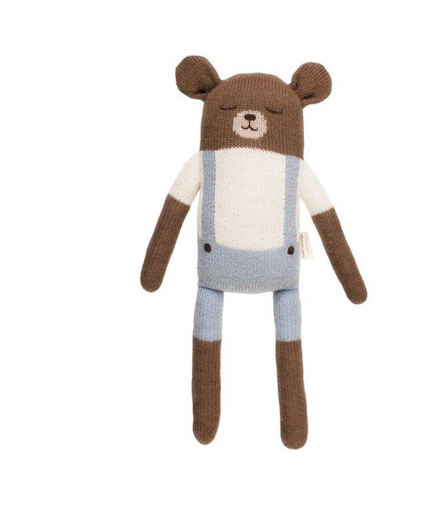 Big teddy soft toy, blue