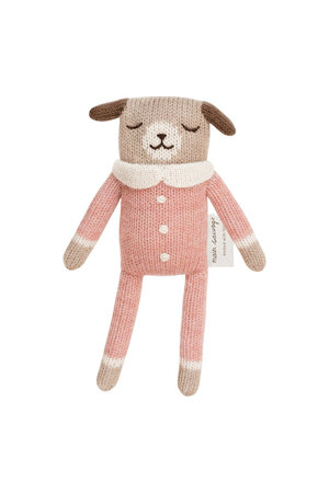 Main Sauvage Puppy soft toy, rose jumpsuit