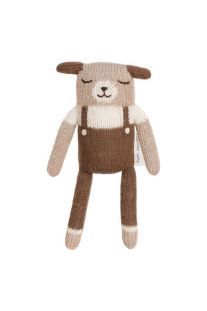 Main Sauvage Puppy soft toy, nut overalls