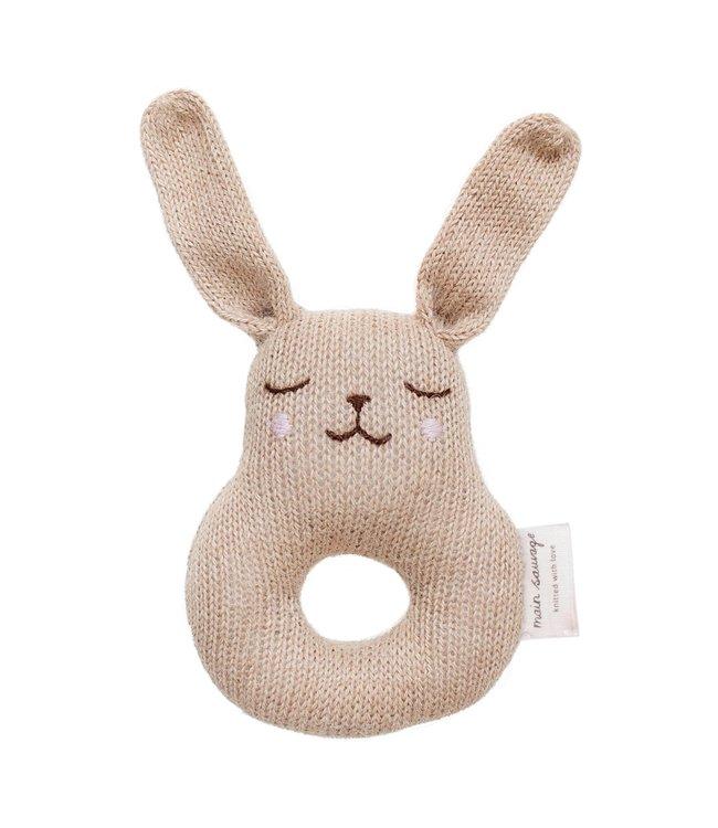 Main Sauvage Bunny rammelaar - sand
