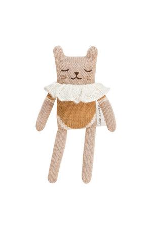 Main Sauvage Kitten soft toy, ochre bodysuit