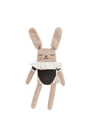 Main Sauvage Bunny soft toy, black bodysuit