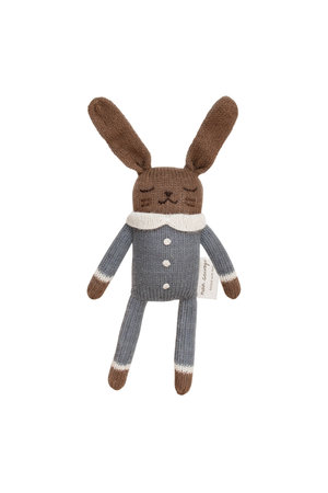 Main Sauvage Bunny soft toy, slate jumpsuit