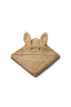 Liewood Augusta handdoek met capuchon - rabbit oat